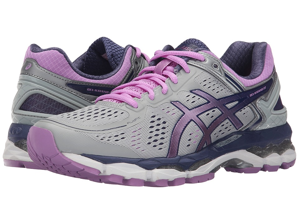 ASICS - GEL-Kayano 22 (Silver/Violet/Cobalt) Women's Running Shoes