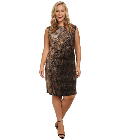 NIC+ZOE - Plus Size Amber Allure Dress (Multi) Women