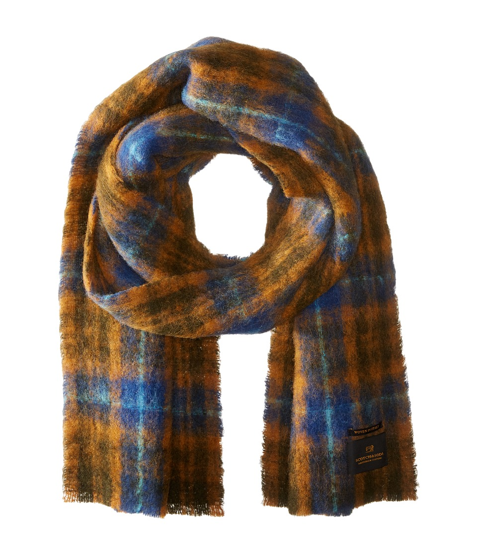 Scotch & Soda - Brushed Multicolor Scarf (Blue/Brown) Scarves