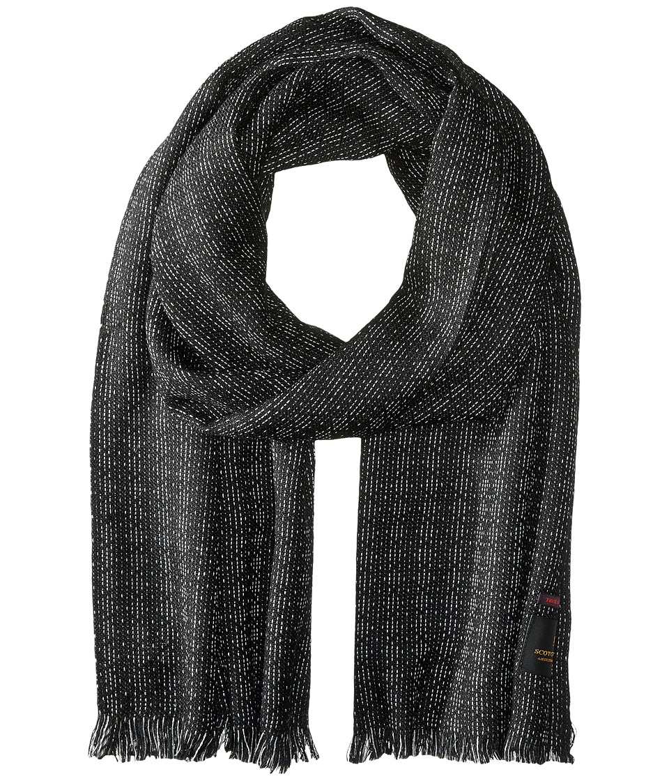 Scotch & Soda - Brushed Gentlemen's Scarf (Black) Scarves