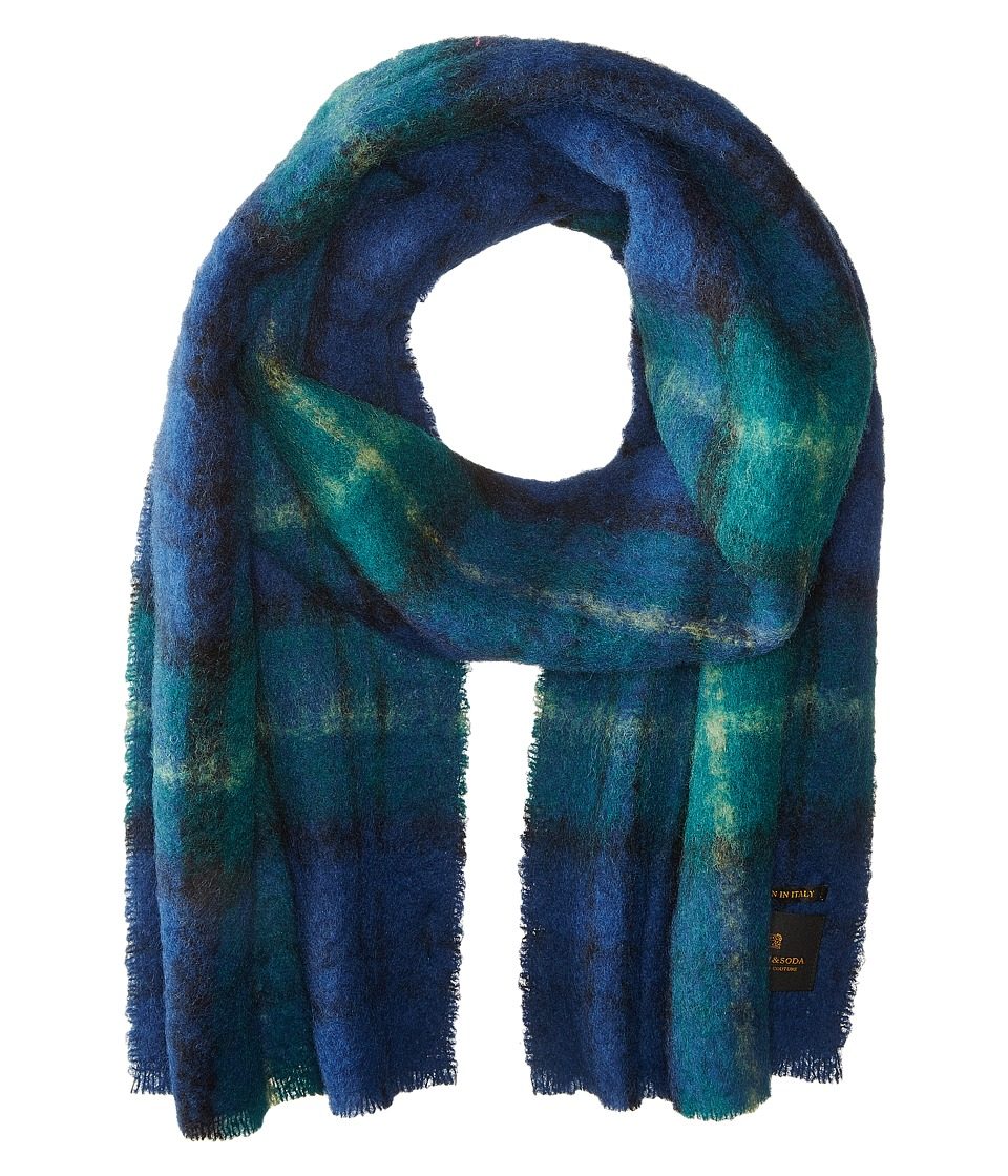 Scotch & Soda - Brushed Multicolor Scarf (Blue/Green) Scarves