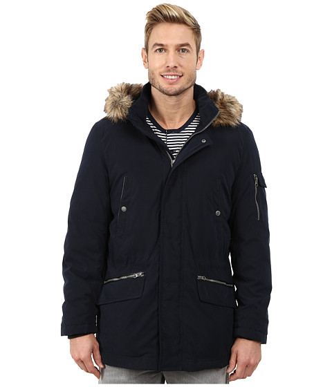 Nautica - Bi Blend Zip Front Jacket (Dark Navy) Men