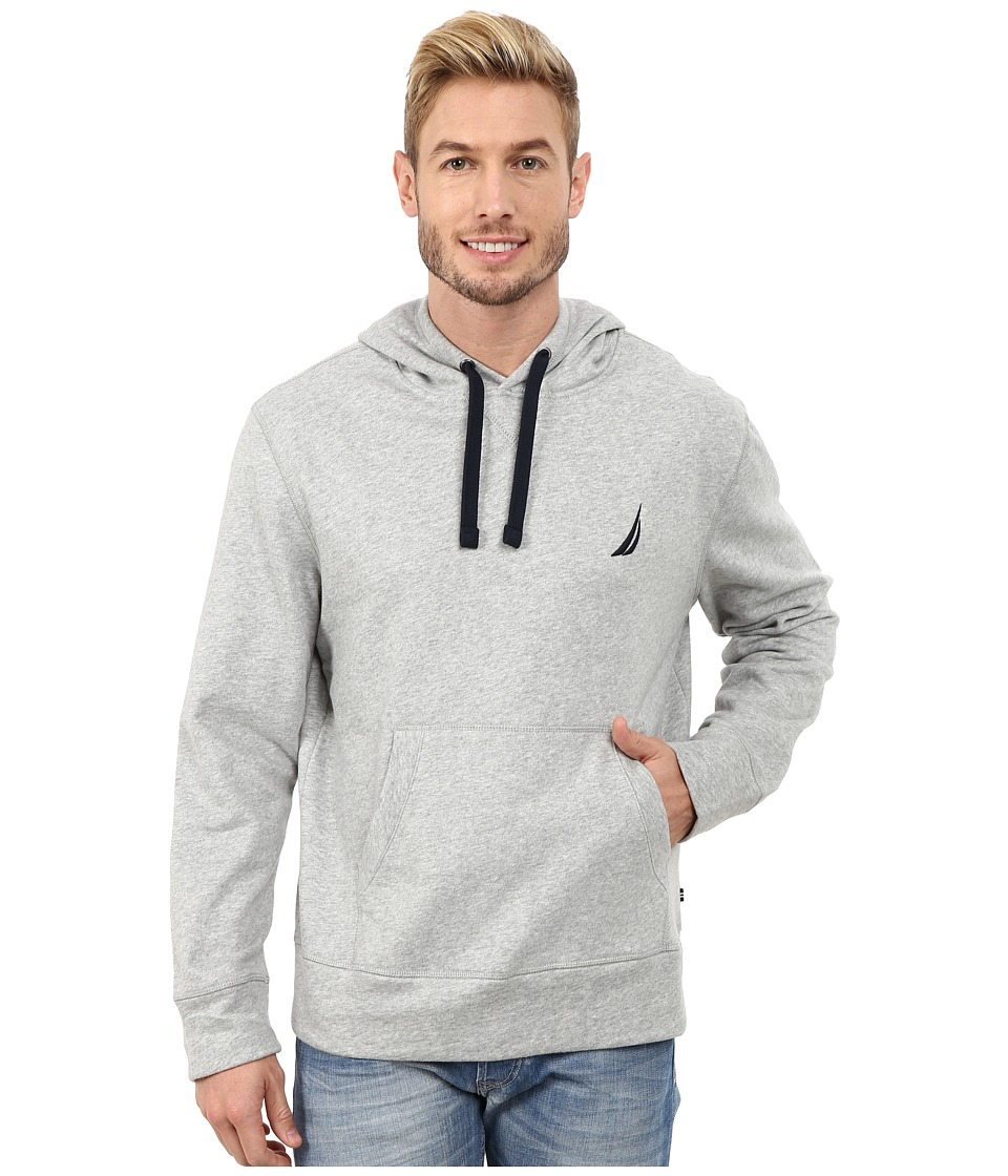 Nautica - Pullover Hoodie (Grey Heather) Men's Sweatshirt