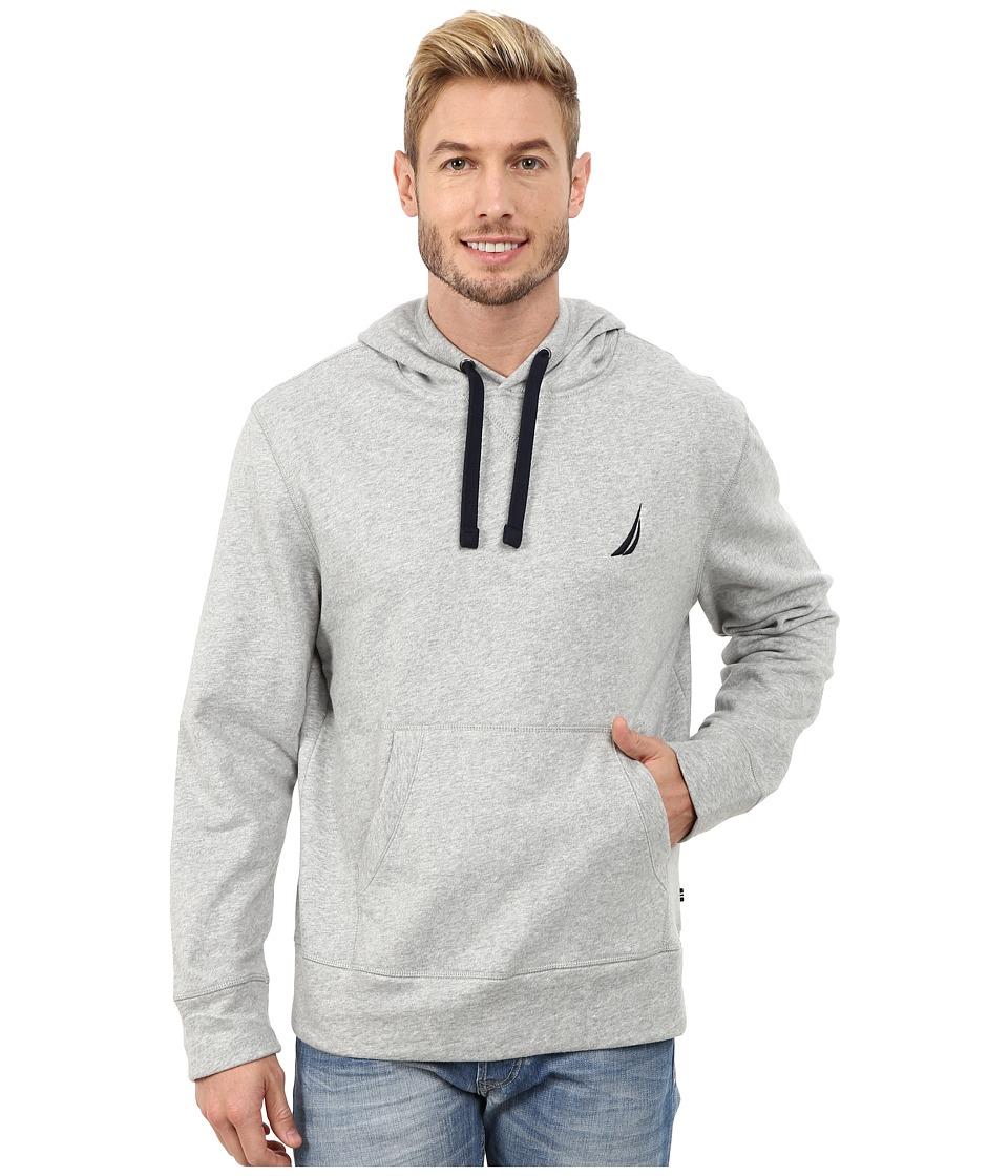 Nautica - Pullover Hoodie (Grey Heather) Men's Sweatshirt