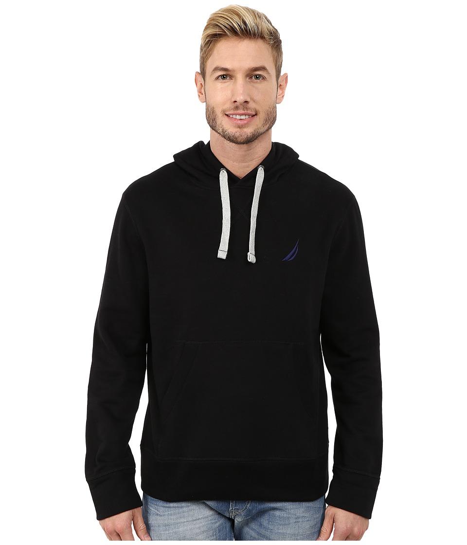 Nautica Pullover Hoodie (True Black) Men's Sweatshirt