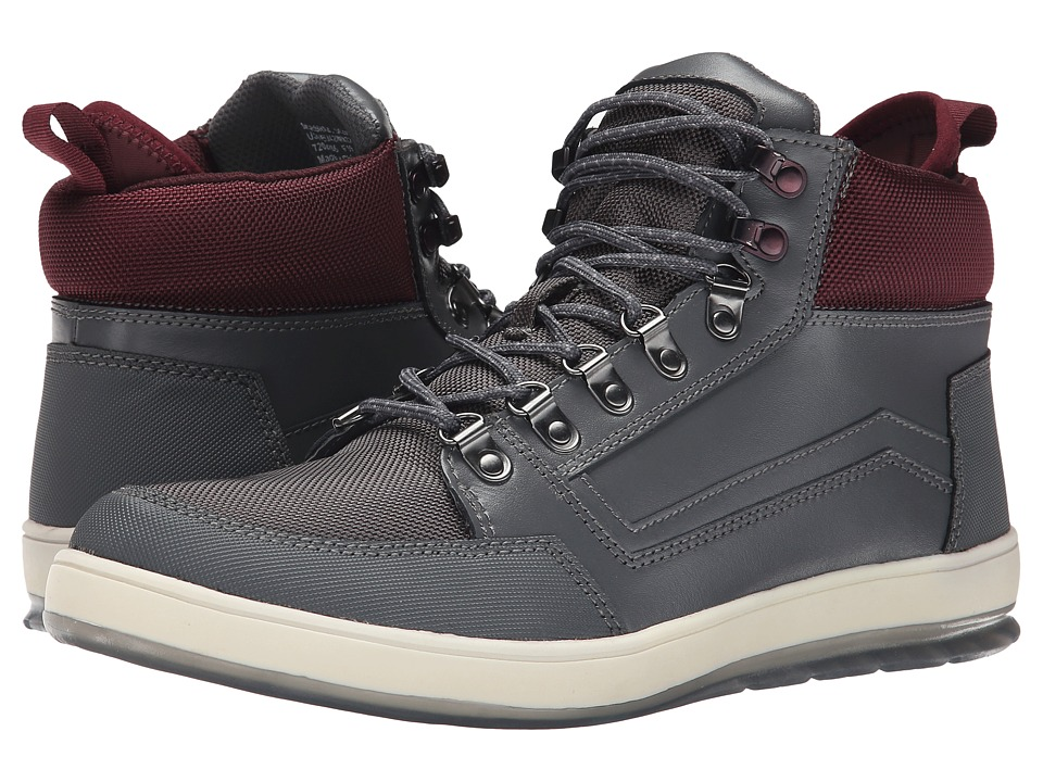 Calvin Klein Jeans - Marshall (Dark Grey Leather/Oxblood Nylon) Men
