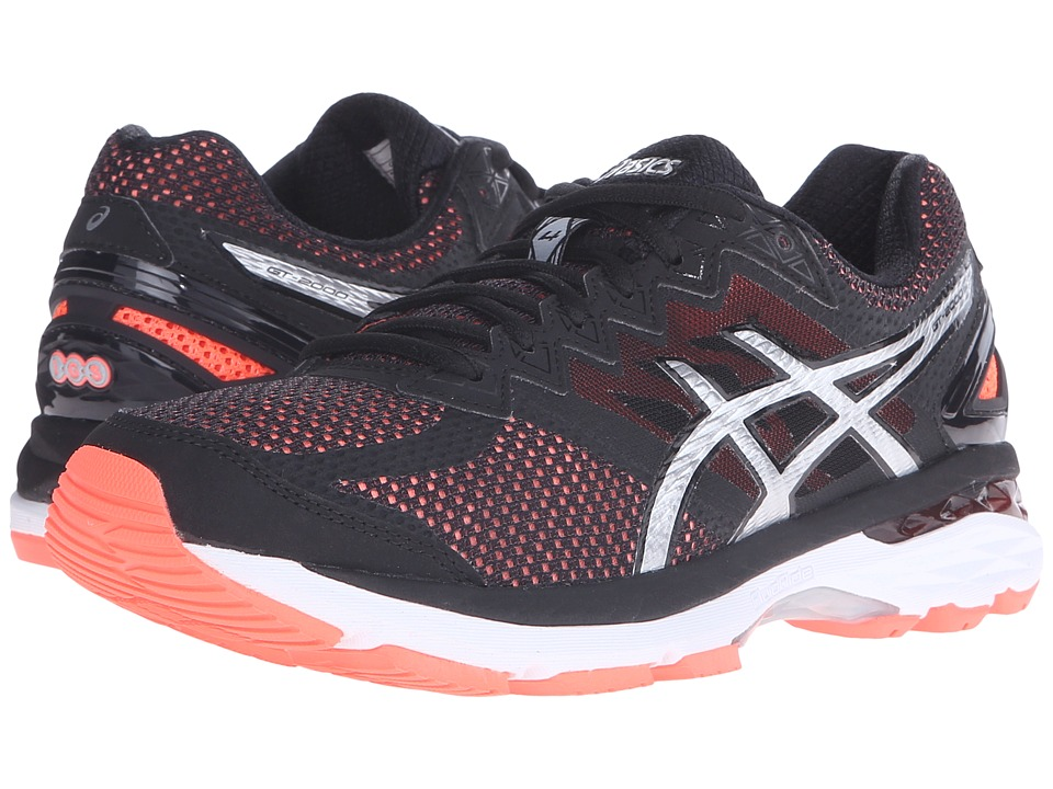 ASICS - GT-2000 4 (Flash Coral/Black/Silver) Women's Running Shoes