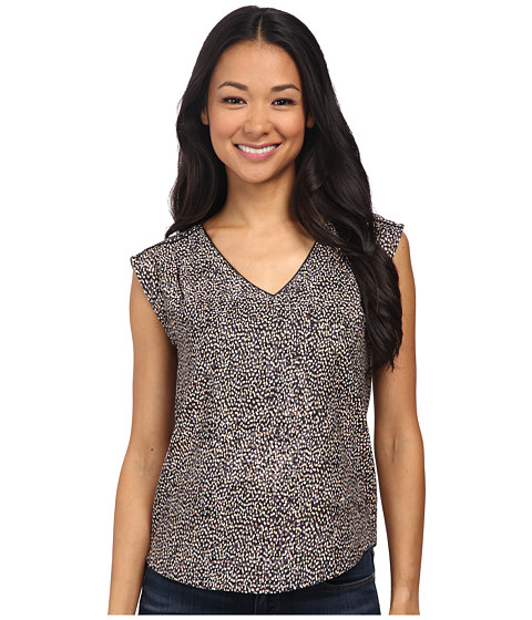 NIC+ZOE - Petite Lots of Dots Top (Multi) Women's Clothing