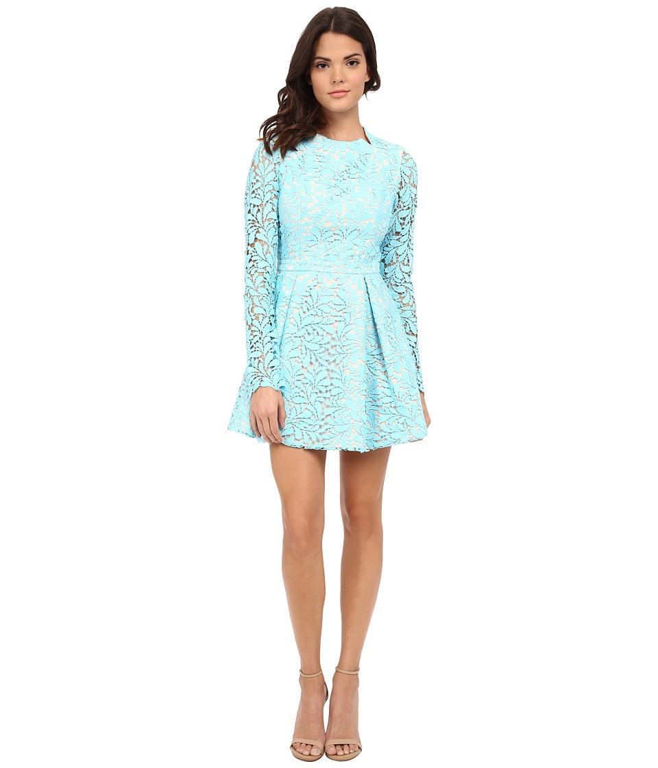 StyleStalker - Viper Long Sleeve Dress (Cyan) Women's Dress