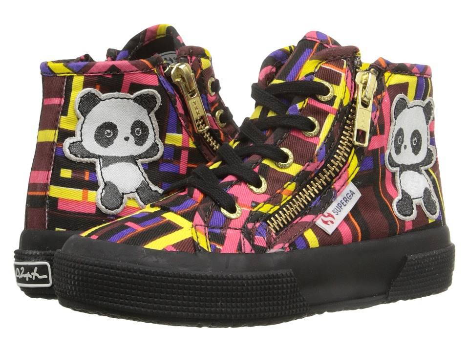 Superga Kids - 2224 Fancotsuej (Toddler/Little Kid) (Plaid/Panda Multi Tartan) Kid
