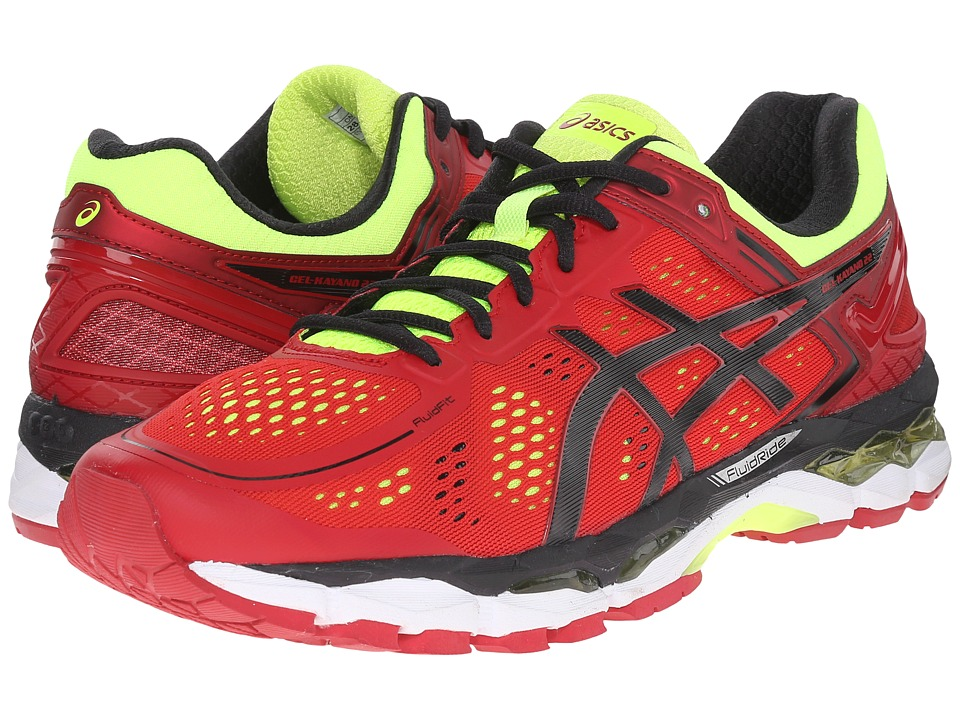 ASICS - GEL-Kayano 22 (Red Pepper/Black/Flash Yellow) Men's Running Shoes