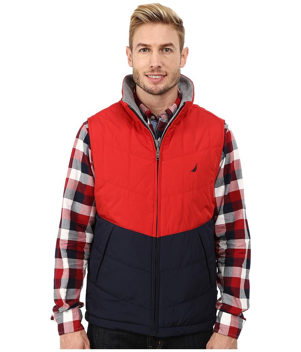 Nautica - Reversible Lightweight Vest (Sunguaurd Red) Men's Vest