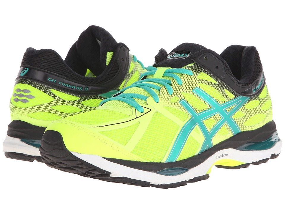 ASICS - Gel-Cumulus 17 (Flash Yellow/Pine/Black) Men