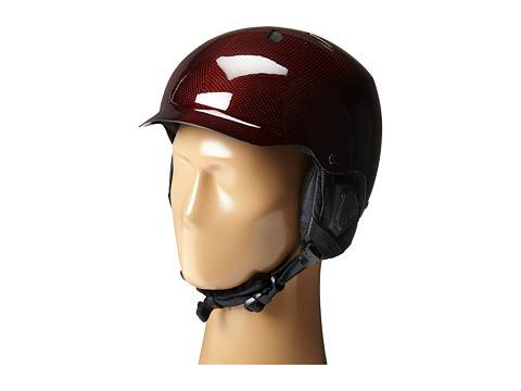 Bern - Watts Carbon Fiber (Gel Coat Red/Black Liner) Snow/Ski/Adventure Helmet