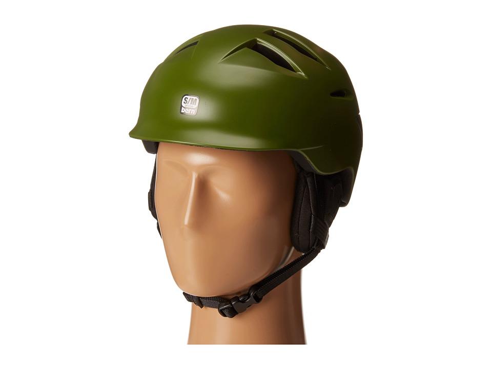 Bern - Rollins (Satin Olive Green/Black Liner) Snow/Ski/Adventure Helmet