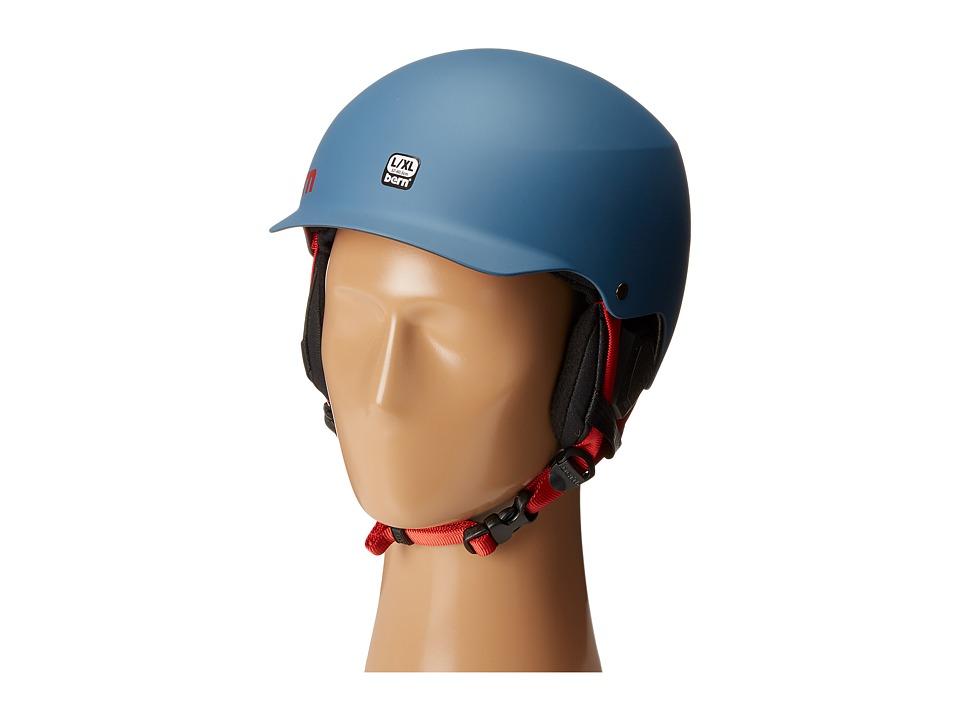 Image of Bern - Baker EPS (Matte Steel Blue/Black Liner) Snow/Ski/Adventure Helmet