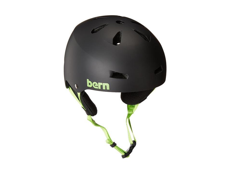 Bern - Team Macon EPS (Matte Black/Earflaps) Snow/Ski/Adventure Helmet