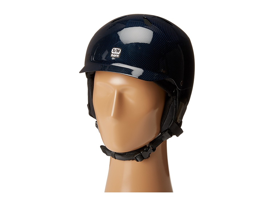 Bern - Watts Carbon Fiber (Gel Coat Navy Blue/Black Liner) Snow/Ski/Adventure Helmet