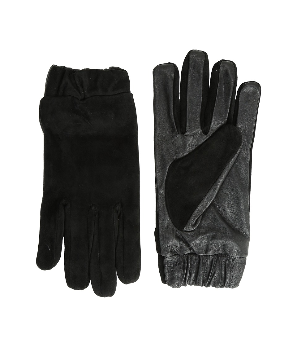 Scotch & Soda - Glove in Suede and Leather Quality (Black) Extreme Cold Weather Gloves