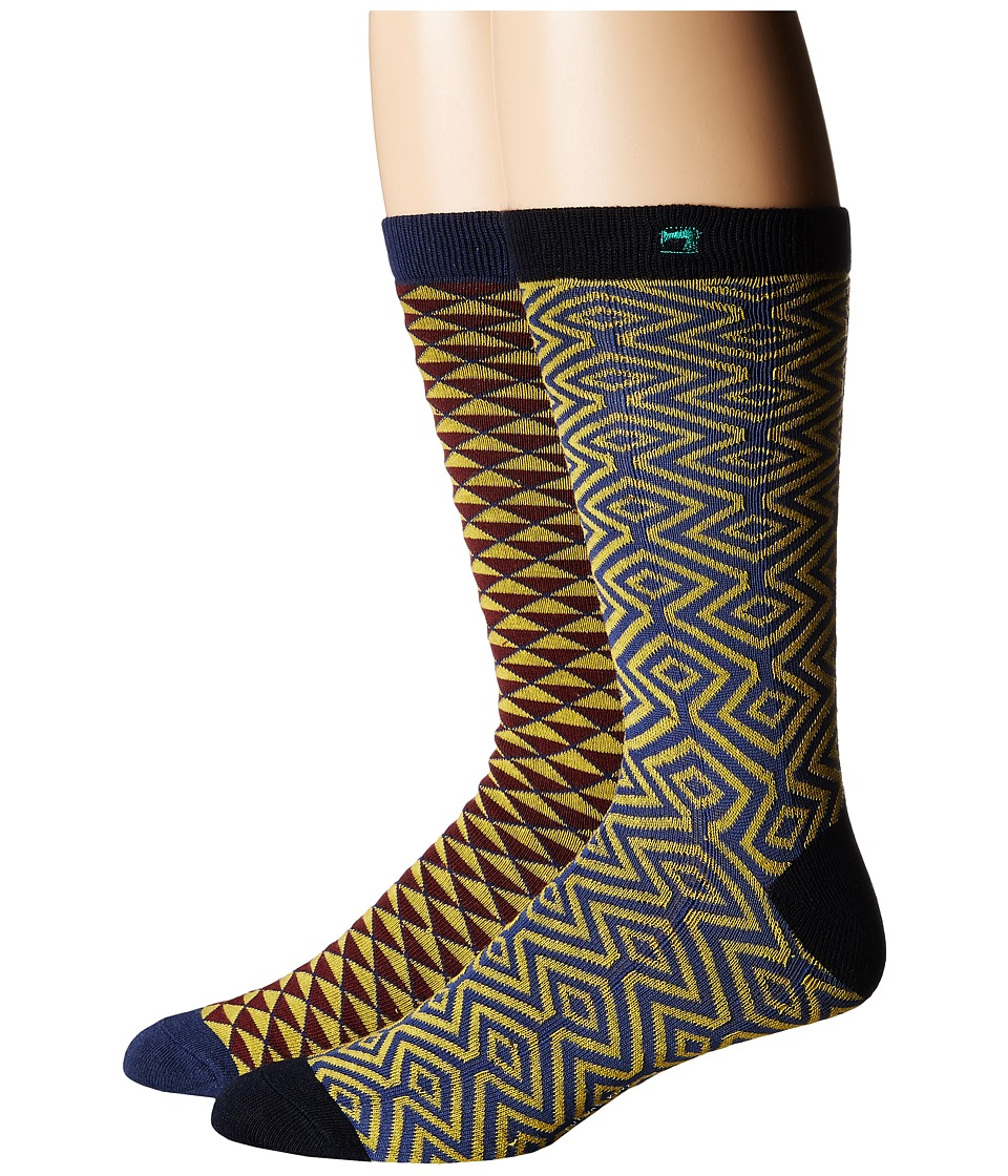 Scotch & Soda - Classic Socks in Fun Pattern - 2-Pack (Multi) Men's Crew Cut Socks Shoes