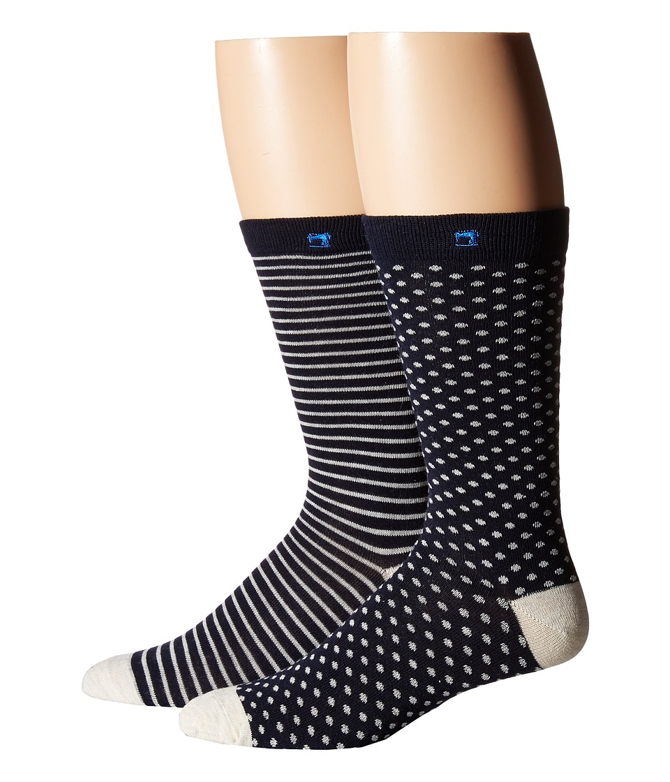 Scotch & Soda - Classic Socks - 2-Pack (Black/Grey) Men's Crew Cut Socks Shoes