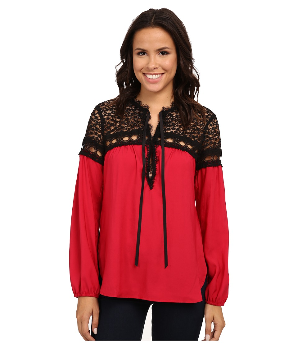 Nanette Lepore - Tainted Love Top (Scarlet) Women's Clothing