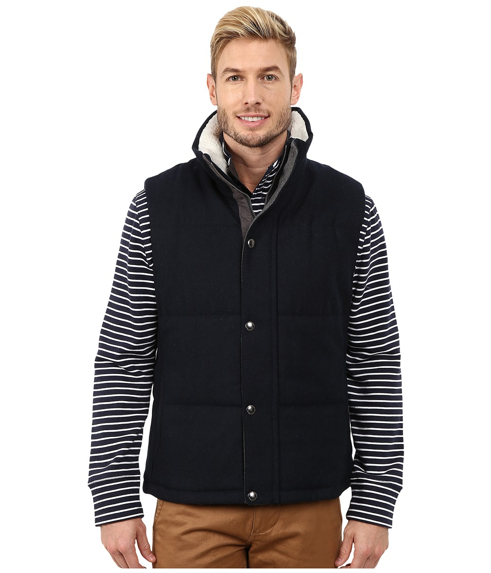 Nautica - Wool Melton Vest (Double Navy) Men