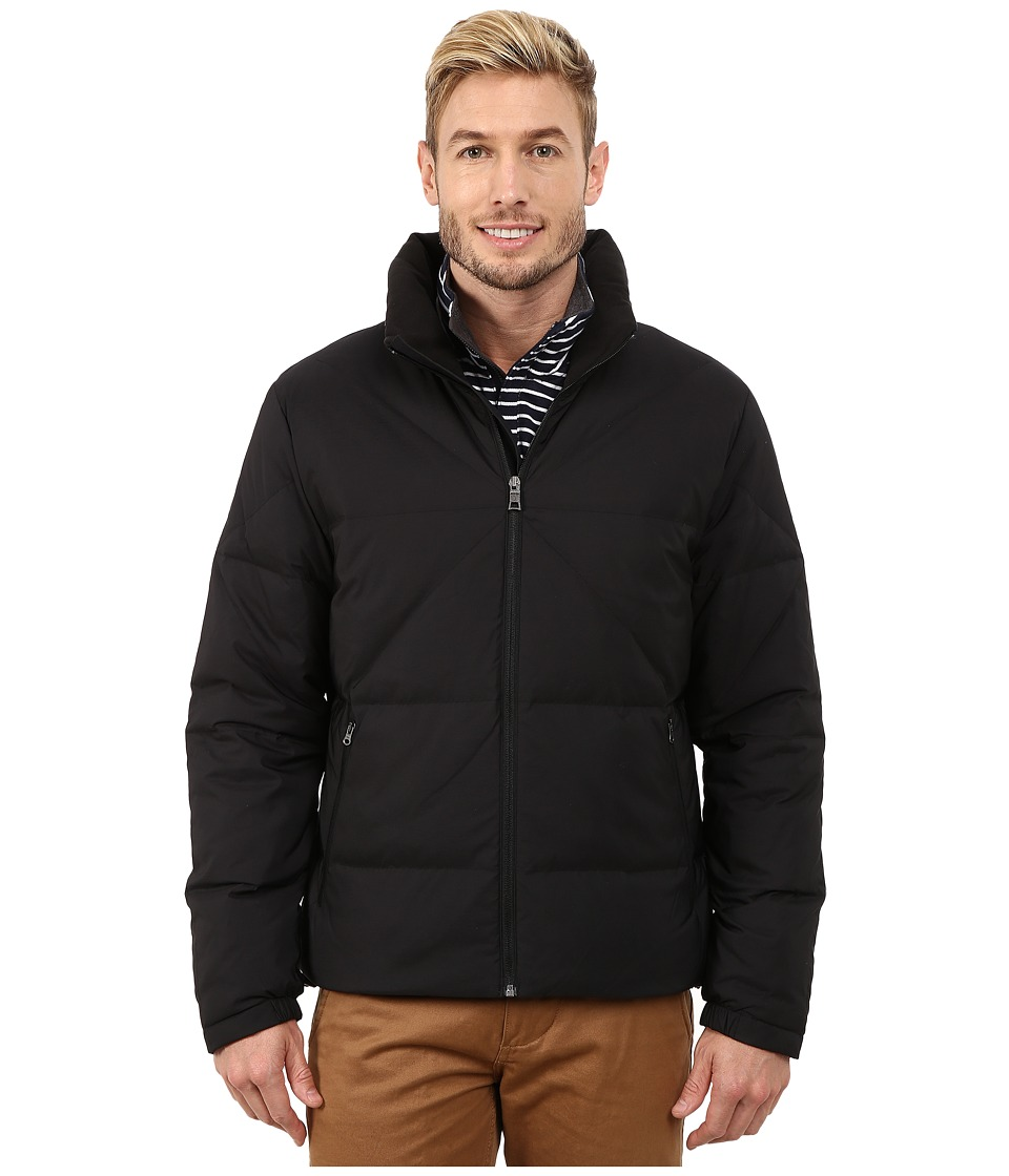 Nautica - Solid Down Quilted Jacket (True Black) Men