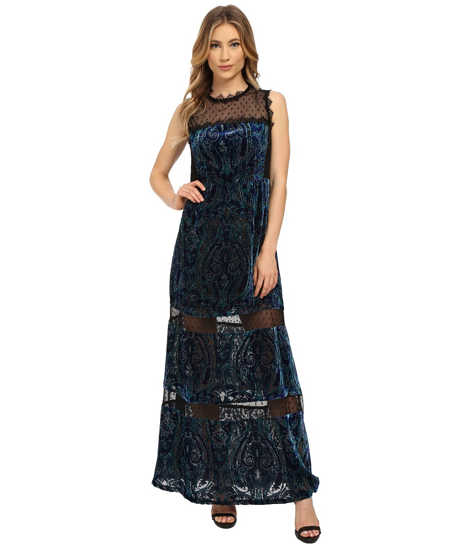 Nanette Lepore - Viennese Gown Dress (Cobalt Multi) Women's Dress