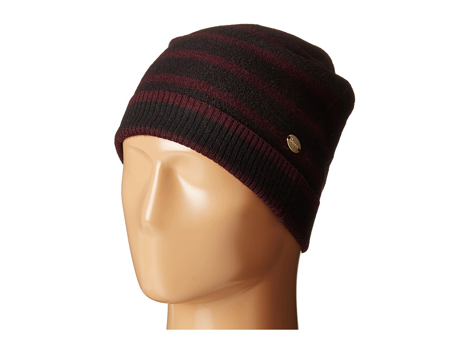 Scotch & Soda - Beanie in Felted Wool (Navy/Burgundy) Beanies