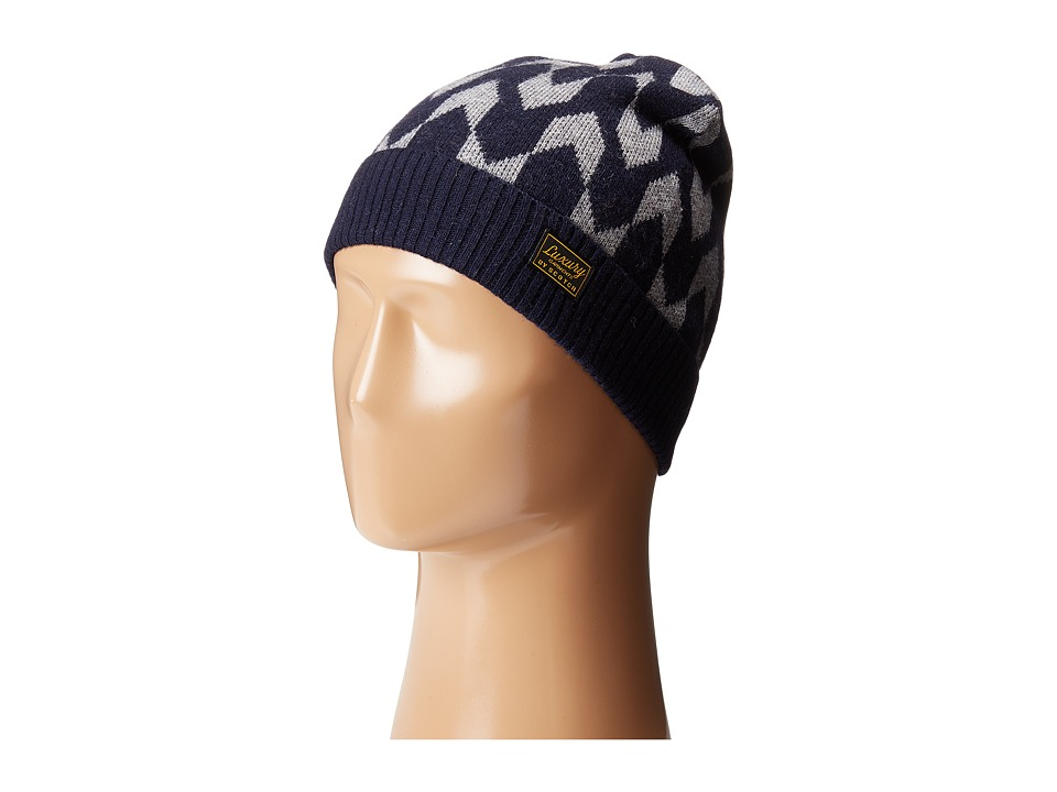 Scotch & Soda - Pattern Knitted Beanie in Lambswool/Nylon (Black/Grey) Beanies