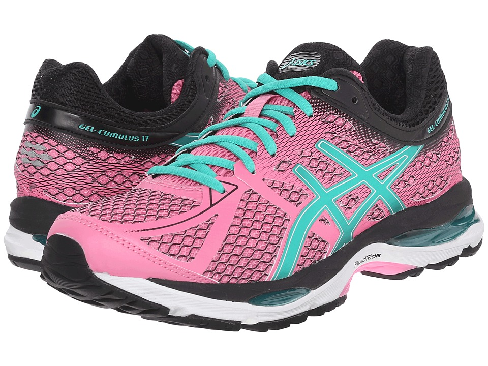 ASICS - Gel-Cumulus 17 (Flamingo/Green/Black) Women's Running Shoes