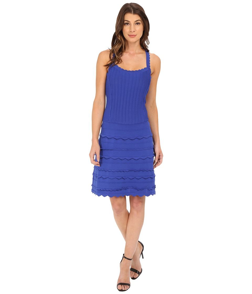 Nanette Lepore Scallop Edge Dress (Sapphire) Women