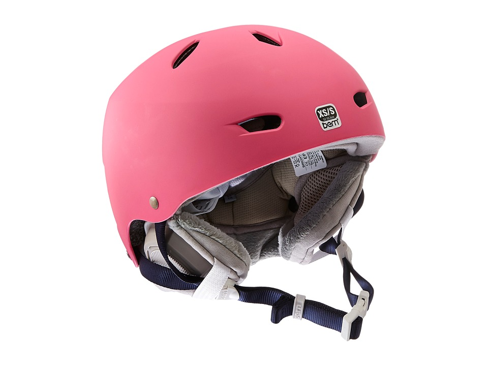 Image of Bern - Brighton EPS (Satin Bubblegum Pink/Grey Liner) Snow/Ski/Adventure Helmet