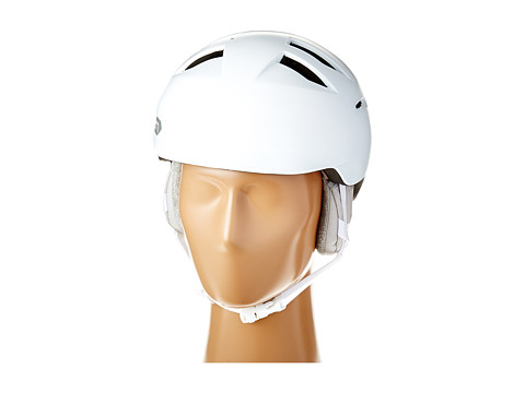 Bern - Hepburn (Satin White/Grey Liner) Snow/Ski/Adventure Helmet