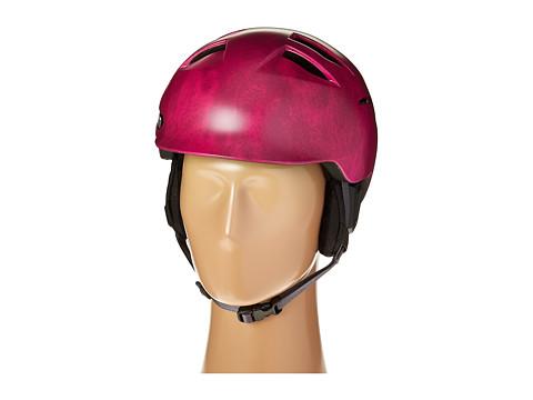 Bern - Hepburn (Satin Fuchsia Acid Wash/Grey Liner) Snow/Ski/Adventure Helmet