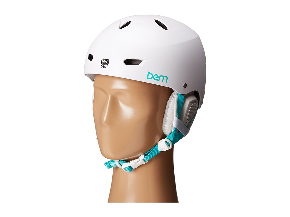 Bern - Brighton EPS (Satin White/Grey Liner) Snow/Ski/Adventure Helmet
