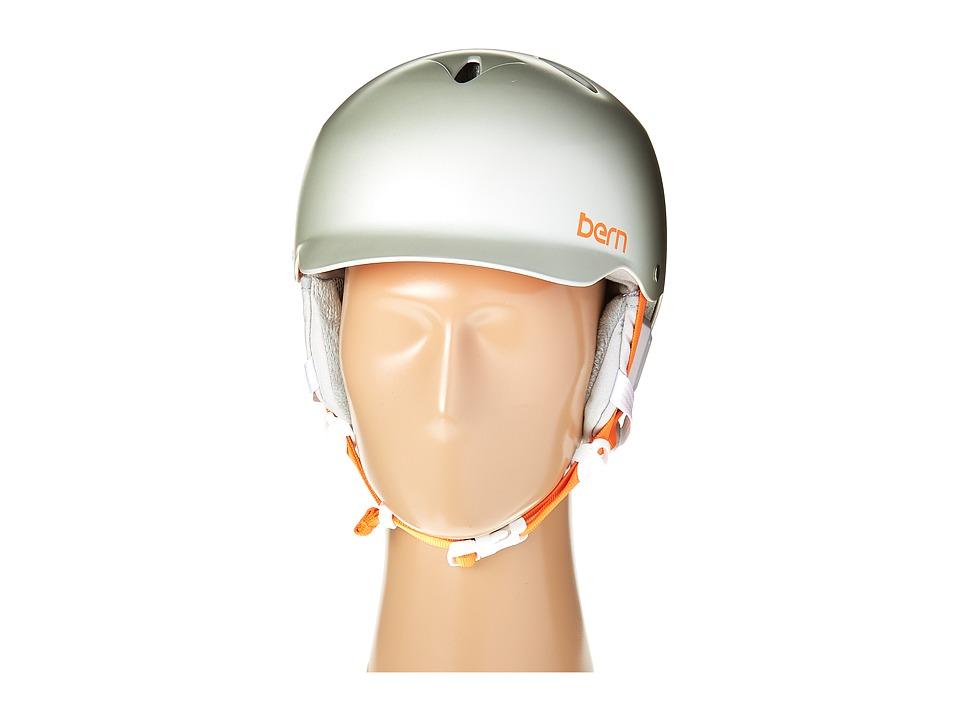 Bern - Lenox EPS (Satin Delphin Grey/Grey Liner) Snow/Ski/Adventure Helmet