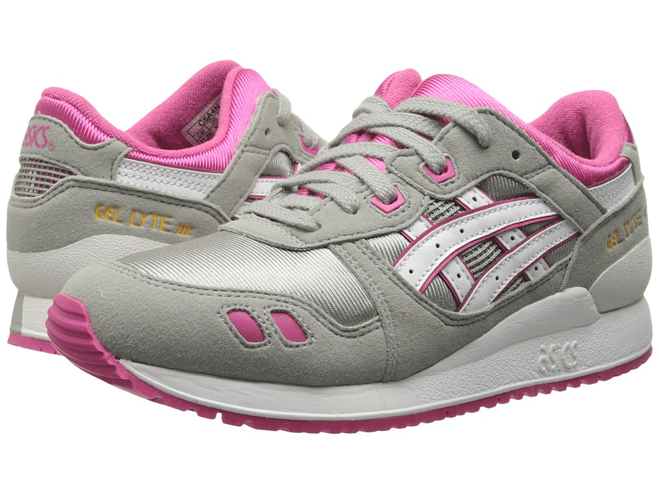 ASICS Kids - Gel-Lyte III GS (Big Kid) (Light Grey/White) Girl