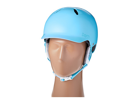 Bern - Bandita (Satin Light Blue/White Liner) Snow/Ski/Adventure Helmet