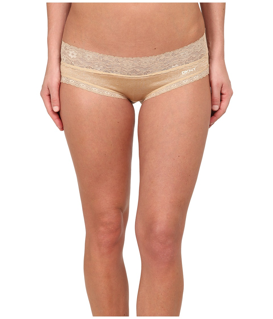 DKNY Intimates - Signature Lace Bikini DK1268 (Skinny Dip Heather/Ivory) Women's Underwear