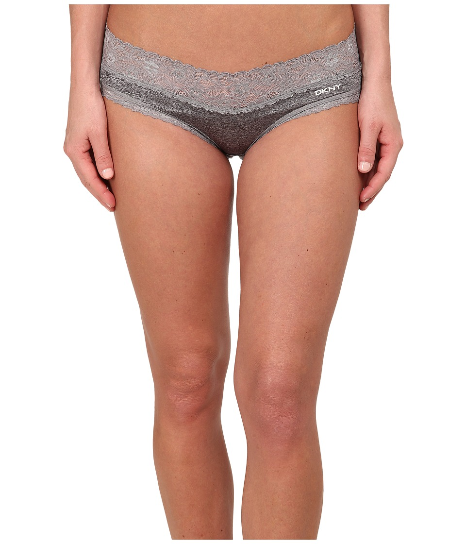 DKNY Intimates - Signature Lace Bikini DK1268 (Socialite Grey Heather/Ivory) Women's Underwear