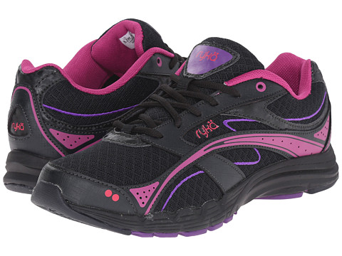 Ryka - Glide Walk (Black/Pink) Women's Lace up casual Shoes