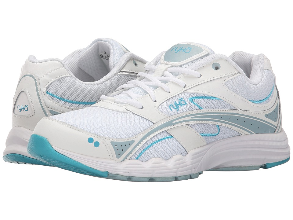Ryka - Glide Walk (White/Blue) Women