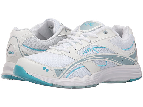 Ryka - Glide Walk (White/Blue) Women's Lace up casual Shoes