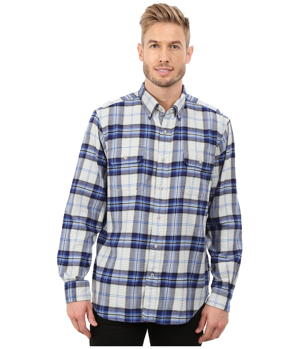 Nautica - Long Sleeve Brush Twilight Large Plaid (Star Sapphire) Men's Long Sleeve Button Up