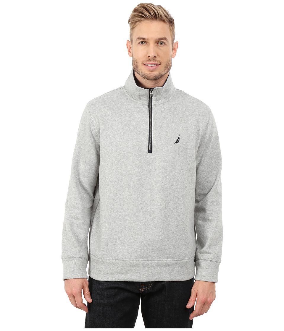 Nautica - 1/4 Zip Pullover (Grey Heather) Men's Clothing