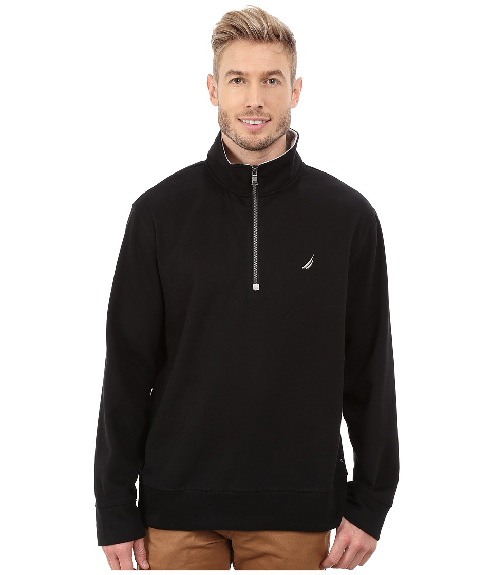 Nautica - 1/4 Zip Pullover (True Black) Men's Clothing
