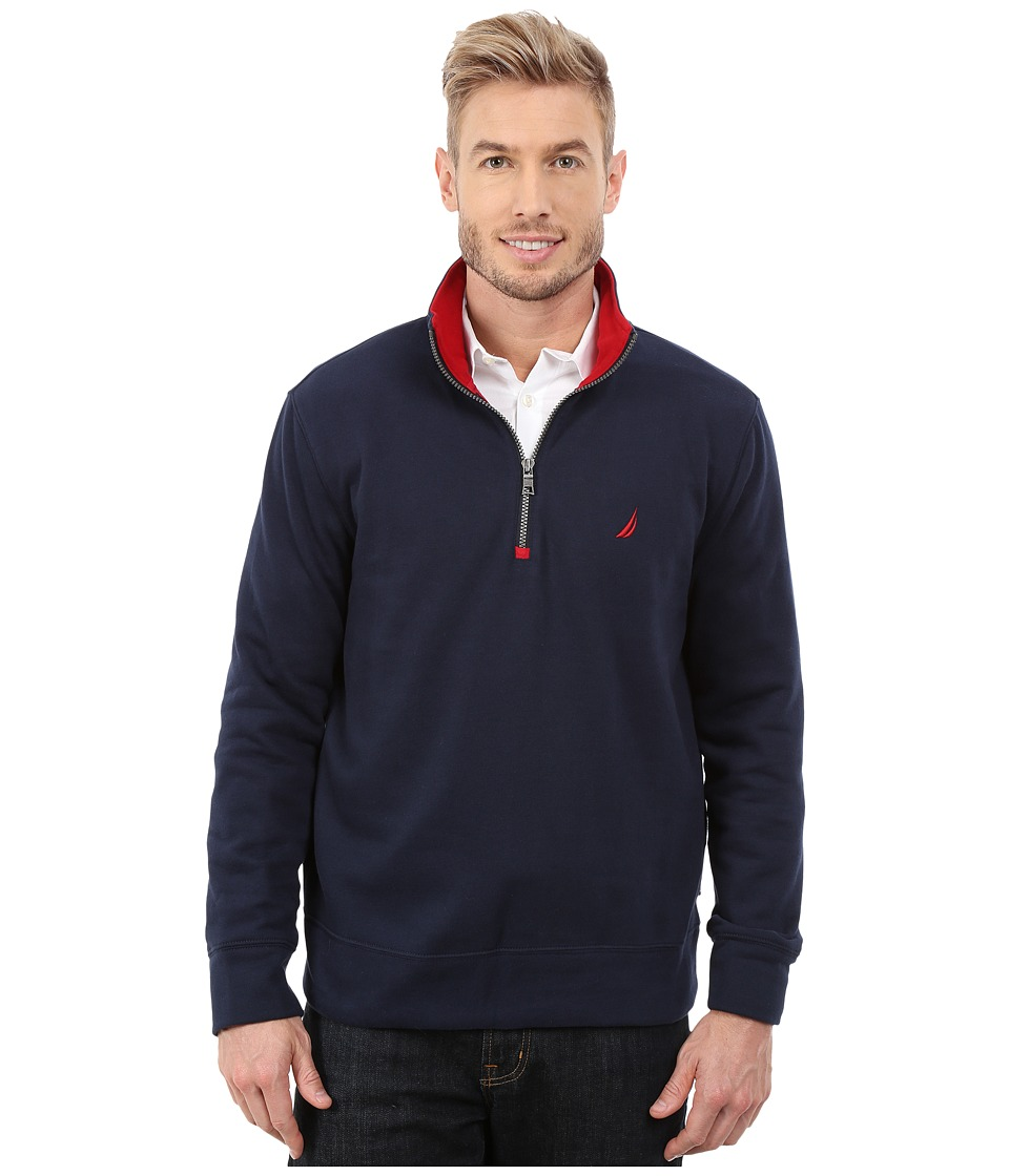 Nautica - 1/4 Zip Pullover (Navy) Men's Clothing