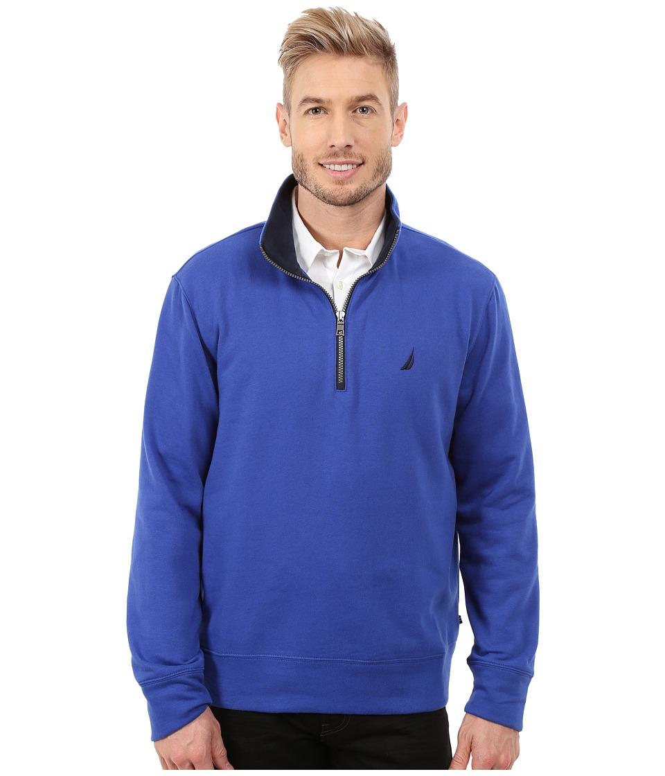 Nautica - 1/4 Zip Pullover (Twilght Sky) Men's Clothing